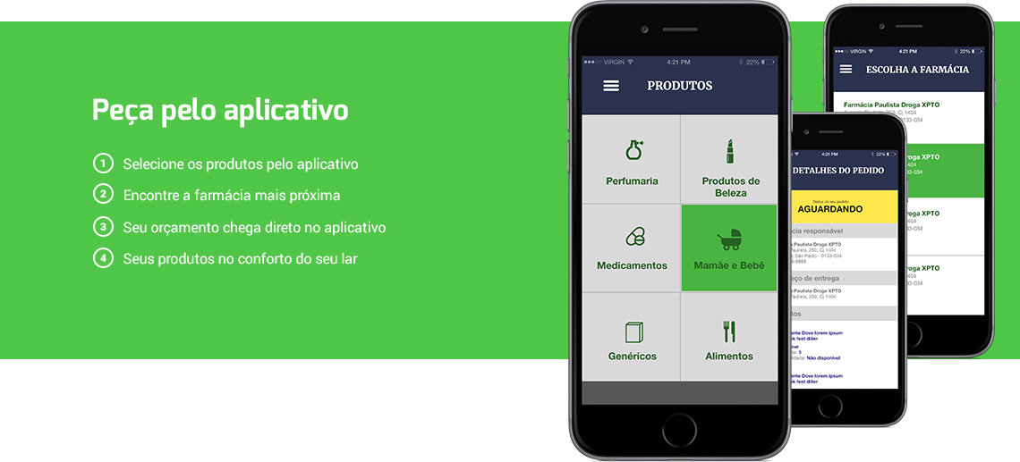 Pedidos-Online-Entrafarma-Farmacia-Aplicativo-Smartphone-Iphone-Android